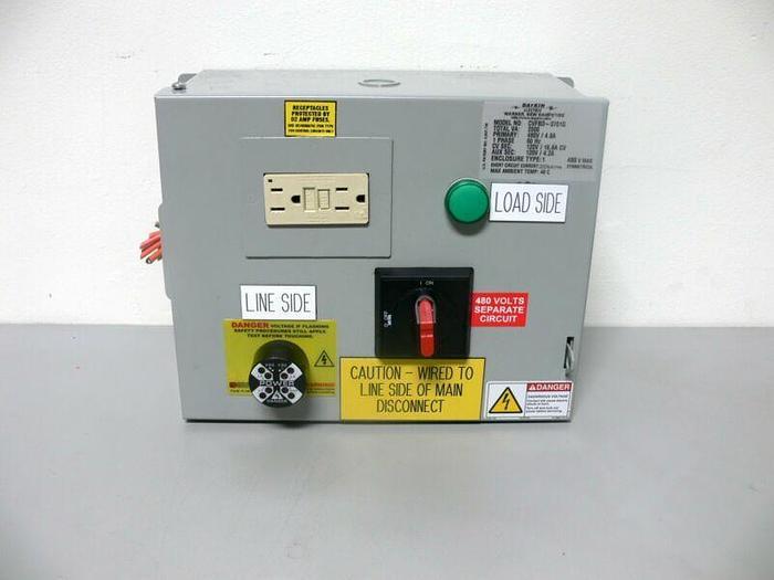 Used Daykin Electric CVFBD-0701G 480V Transformer Enclosure w/ On/Off Switch & Fuses