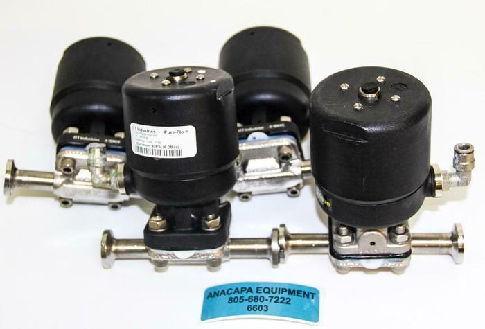 "Used ITT Industries AP0506 0.5"" Pure Flo Diaphragm Valve W/ Steel Body lot of 4 (6603"