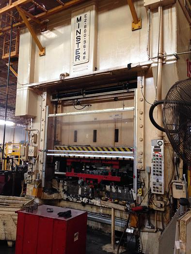 Used 800 TON MINSTER SSDC PRESS