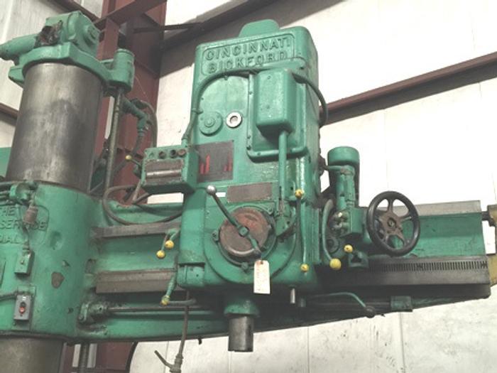 "5' x 15"" CINCINNATI-BICKFORD Radial Drill, #6 MT, Rapid Traverse, Power Clamping"