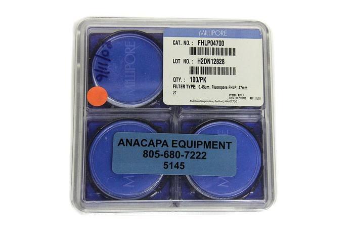 Used Millipore Fluoropore FHLP 47mm .45um FHLP04700 Quantity 100 NEW (5145)