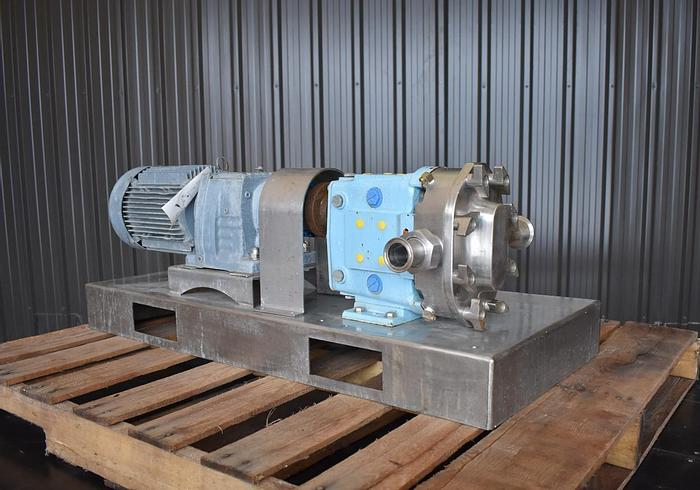 Used USED WAUKESHA ROTARY LOBE PUMP, MODEL 030, STAINLESS STEEL