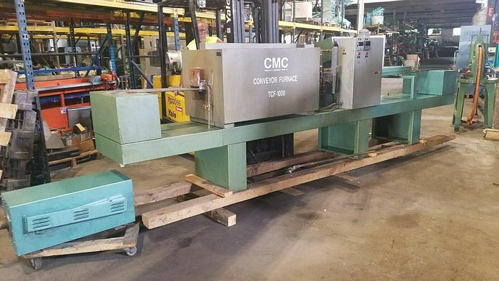 Used CMC Electric Heat Treating Conveyor Belt Furnace TCF -1000 with Dissociator