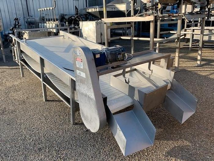 """Used Stainless Steel Incline Feed Conveyor 48"""" Wide x 140"""" Long"""