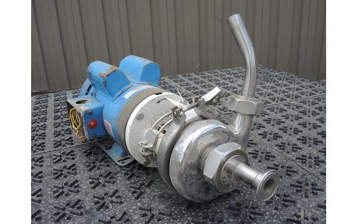 "Used USED CENTRIFUGAL PUMP, 1.5"" X 1.5"" INLET & OUTLET, STAINLESS STEEL, SANITARY"