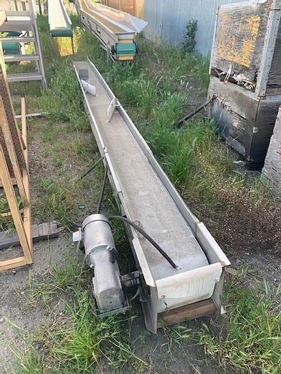 """Used 12"""" Wide x 19.5' Long Flat Belt Conveyor"""