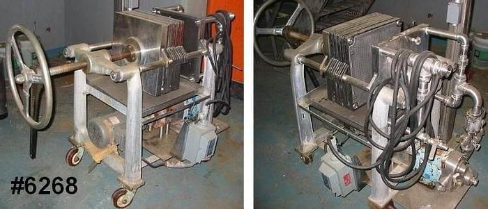 Used 9 SQ. FT. ALSOP SANITARY FILTER PRESS S/S