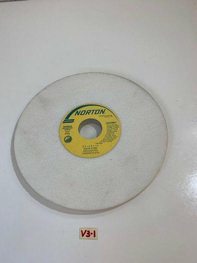 "New!! Norton 38A46-KVBE 8""x 1/2""x 1-1/4"" Abrasive Grinding Wheel 3600RPM"