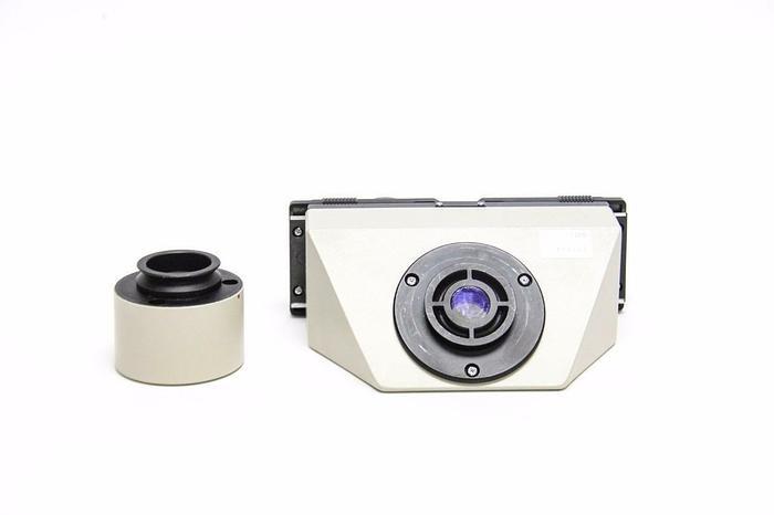 Used Olympus Microscope Head 2M0085 w/ Eyepiece + Tube Adapter (2631)