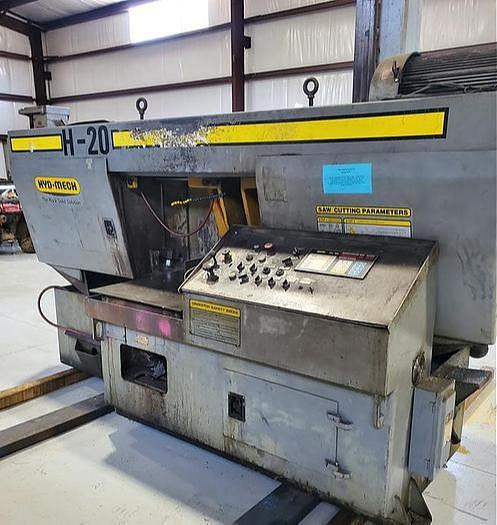 "Used 2001 Hyd-Mech Horizontal Cut Off Saw, Model H20, 20"" X 20"" Capacity, 10 hp"