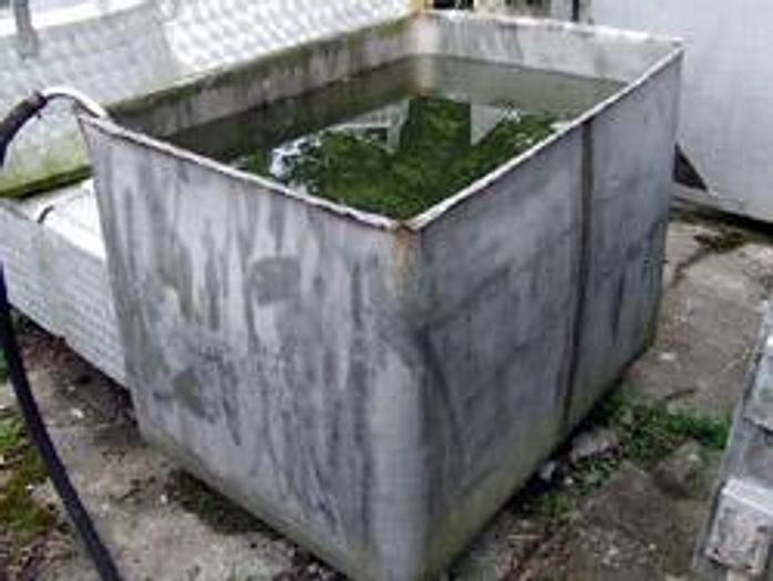 Używane Zbiornik prostokątny, otwarty - nierdzewny