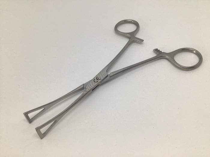 Forceps Intestinal Grasping Duval Collin 10mm Blade by 150mm  (6in)