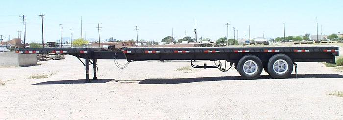 Used Transcraft ETH 40-64 45 ft. Flatbed Trailer; S/N TC-5888