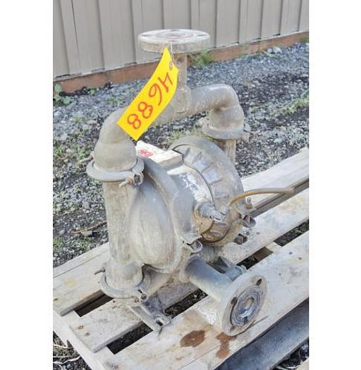 "USED DIAPHRAGM PUMP, 1.5"" X 1.25"" INLET & OUTLET, 316 STAINLESS STEEL"