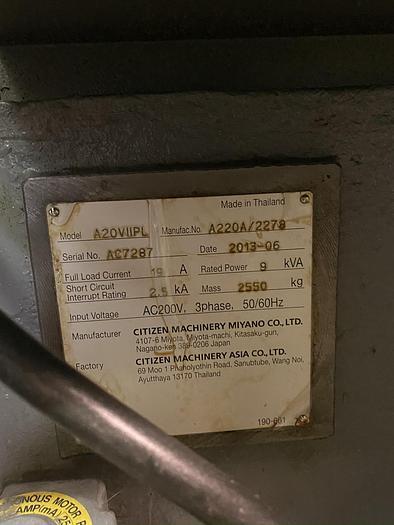 2013 Citizen  A20 IIIPL