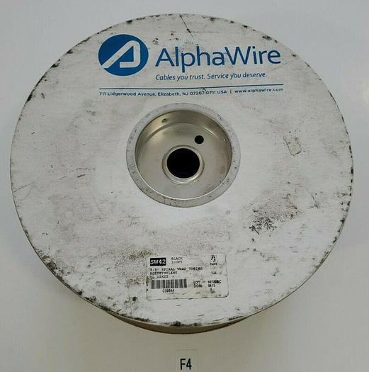 """*NEW* Alpha Wire SW42 100ft Black 3/8"""" Spiral Wrap Tubing Polyethylene UL UZKX2"""