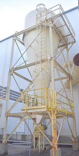 Used Unknown Dust cyclone 13ft diameter  44 ft tall cyclone with airlock 13 ft