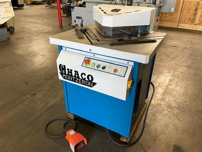 "Used HACO MAXI 250/6 HYDRAULIC CORNER NOTCHER 1/4"" #5804"