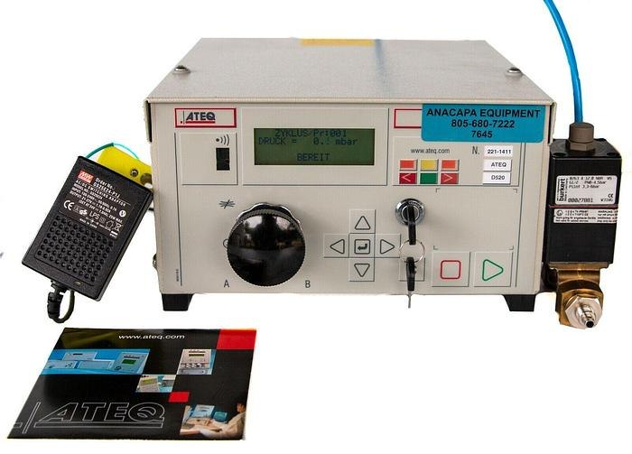 Used ATEQ D520 Flow & Leak Tester With Cables & Power Source (7645) W