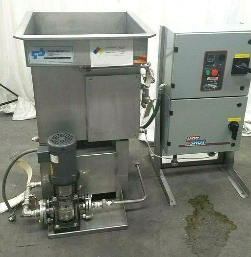 Used Hot Water Cleaning System Tank & Electric Hot Shot Boiler Clean Parts Washing