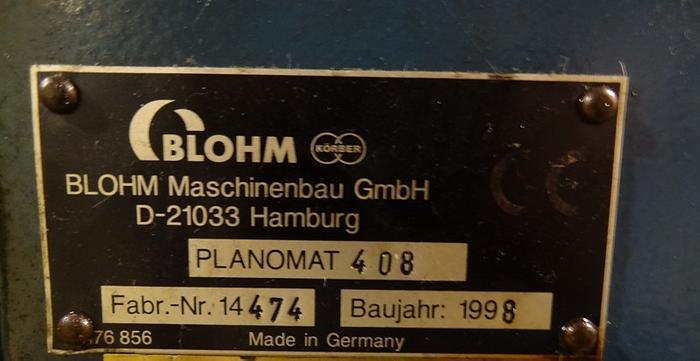 BLOHM PLANOMAT MODEL 408 CNC CREEP FEED GRINDER