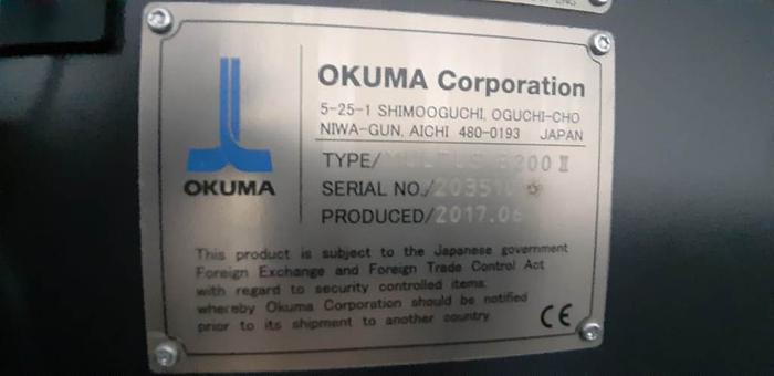 2017 OKUMA MULTUS B200II