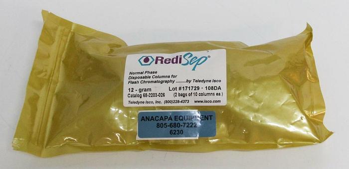 Used Teledyne RediSepRF Normal Phase 12g Flash Chromatography 10 Columns (6230)