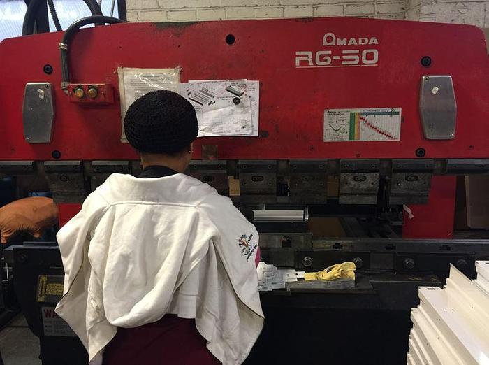1995 55 Ton Amada RG-50 CNC Press Brake