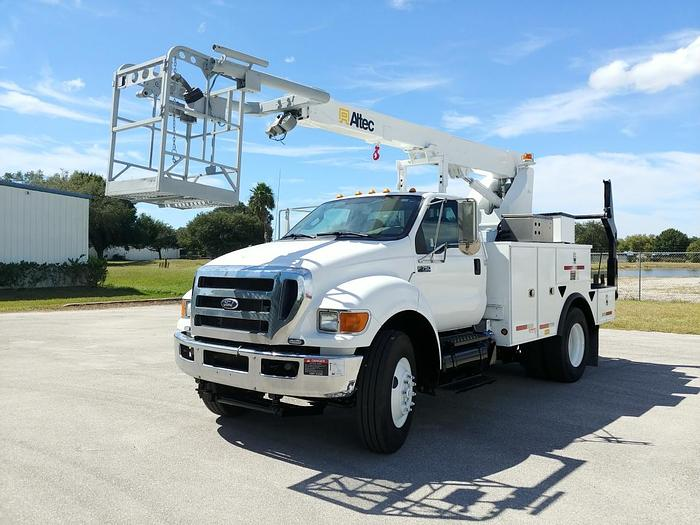 Used Altec A40P 40ft Cable Placer on 2015 Ford F750 Regular Cab Utility Truck - 25016