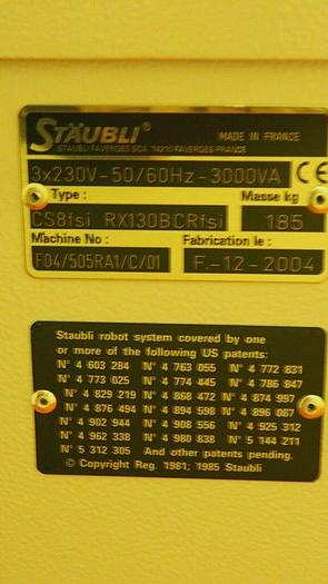 Staubli RX130 CR Robot with Controller - 2 sets