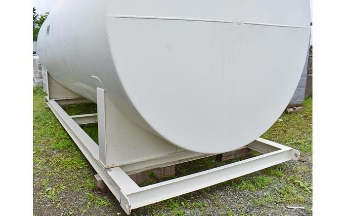 USED 7965 GALLON TANK, CARBON STEEL, HORIZONTAL, DOUBLE WALL VACUUM MONITORED FUEL TANK