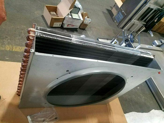 """Used NEW Hot Water Reheat Duct Heater Heat Exchange with Duct Housing 24"""" High Output"""