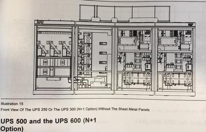 2 UPS and 4 Flywheel cabinets