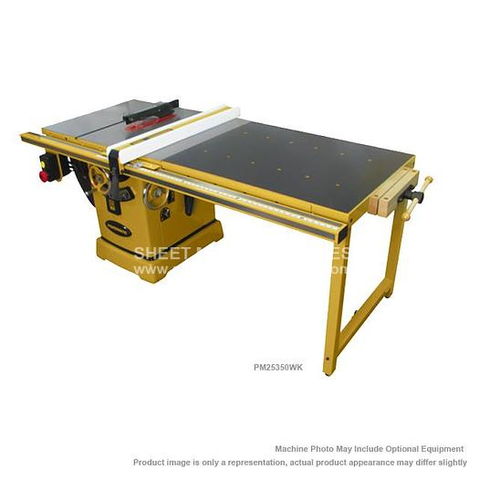 """POWERMATIC PM2000 Tablesaw 5HP 3PH 230/460V 50"""" Accu-Fence and Workbench PM25350WK"""