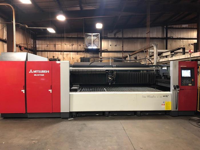Used 2012 4500 Watt Mitsubishi ML-3015 EX CNC Laser
