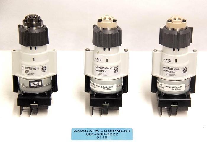 Used Rheodyne MHP9900-500-1 + MHP7900-500-1 TitanHP Fluidic Valve USED LOT OF 3 9115