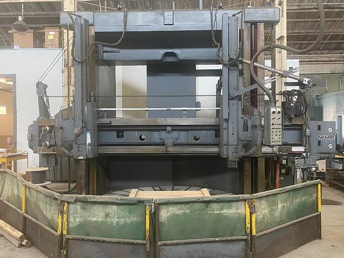 """Used Giddings & Lewis VTL, (2) Rams, 120"""" Table, 144"""" Swing, 108"""" Under Rail, 100 HP, 200 RPM, Full Pendant, Mimic Tracer"""