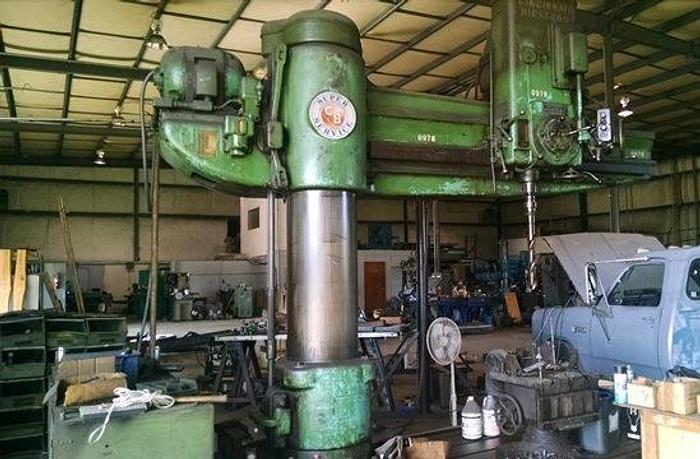 """84"""" Cincinnati Bickford Radial Drill, 20"""" Column, 84"""" Arm, 1500 rpm, #5 MT, ID17374"""
