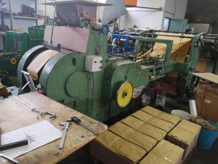 Used 1988 Manzoni Seriana 31 with 2 col flexo - FLAT & SATCHEL paper bag machine