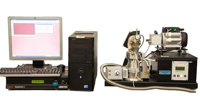 Used Ametek Mass Spectrometer Gas Analyzer Benchtop System w Computer + Software 7294