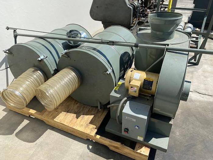 """Used AGET 11C51-D2 DUSTKOP Collector 6"""" Inlet 1.5 HP Dust Collector"""