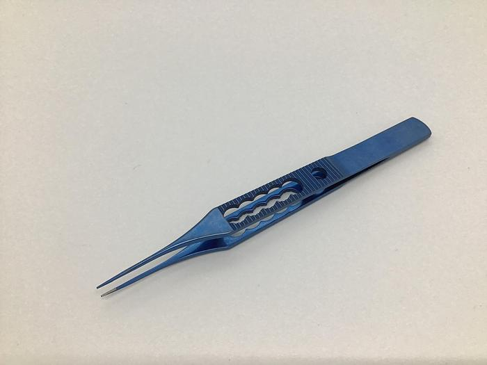 Used Ophthalmic Forceps Micramed Straight Toothed 115mm Titanium