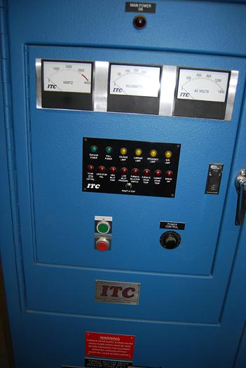 2012 ITC (INDUCTION TECHNOLOGY) 250 KW INDUCTION FURNACE