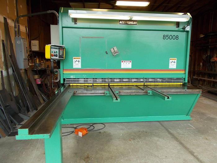 Used 1998 Accurshear  85008 Hydraulic Power Sqauring Shear  85008