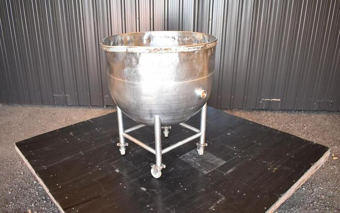 USED 40 GALLON JACKETED KETTLE, STAINLESS STEEL