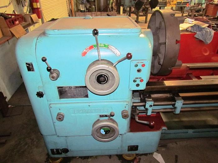 "Used Schaerer Engine Lathe, 28"" x 192"", 22"" SOCS, 1100 rpm, ID17263"