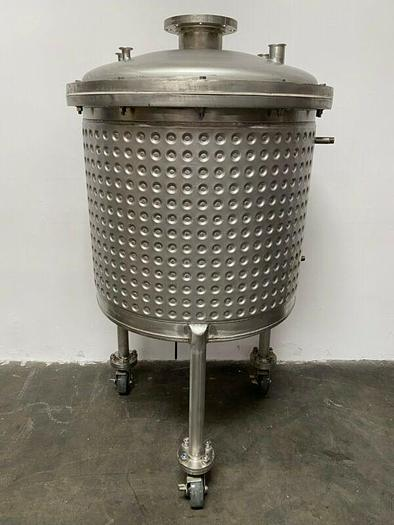 Used 400 Liter Stainless Steel Dimple Jacketed Reactor