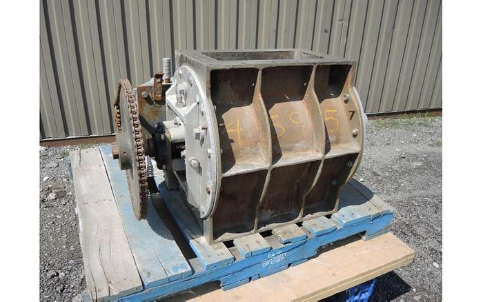"""USED ROTARY AIR LOCK VALVE, SIZE: 8"""" X 16"""", STAINLESS STEEL"""