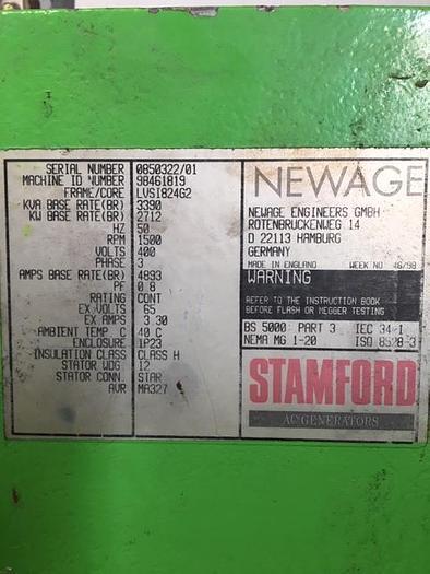 1999 Stamford KVA: 3390
