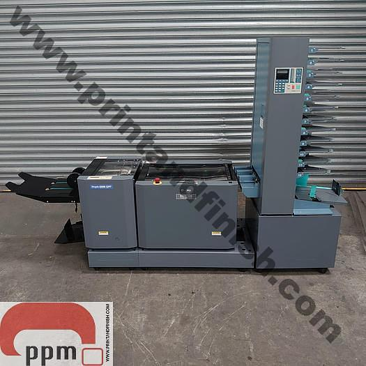 Used Duplo DFC-12 Collator with DBM120 Bookletmaker and DBM120T Trimmer